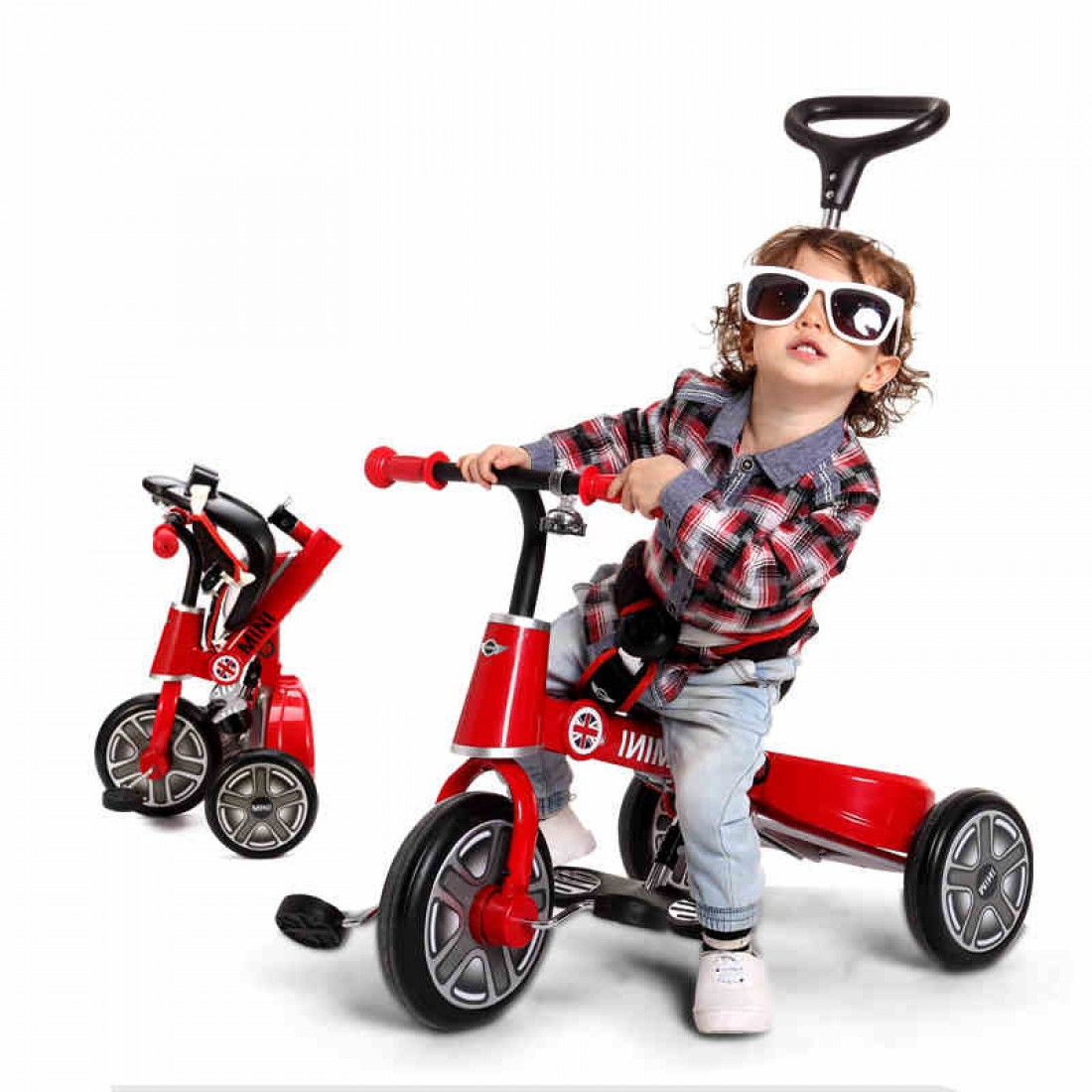 10 inch MINI baby folding tricycle with licensed and CE reports [Official  Licensed]